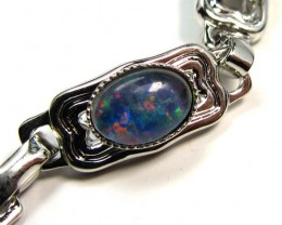 BRIGHT 7X5 MM OPAL TRIPLET  BRACELET  GOA 509