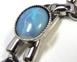 SOLID  8X6 MM OPAL TRIPLE BRACELET  GOA 536