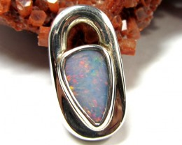 FIREOPAL DOUBLET STERLING SILVER PENDANT SS 374