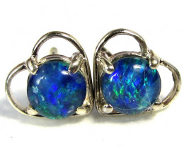 BRIGHT TRIPLET  OPAL EARRINGS SILVER   CK 1655