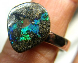 SOLID OPAL RING  STERLING SILVER SIZE- 7.5  24.85CTS LO-4407
