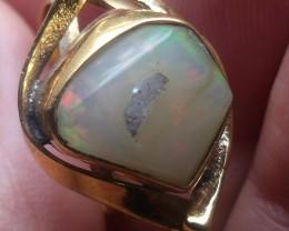 Wello Opal Gem & Gold Plated Ring SZ 7