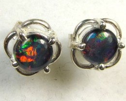 BRIGHT TRIPLET OPAL SILVER  EARRINGS  CK 1678