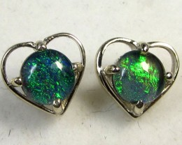 BRIGHT TRIPLET OPAL SILVER  EARRINGS  CK 1683
