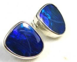 BLUE DOUBLET  OPAL SILVER  EARRINGS  CK 1699