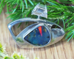 BRIGHT BOULDER FLASH OPAL SILVER  PENDANT CK 1710