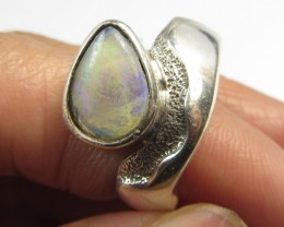 CRYSTAL OPALSILVER  RING SIZE  7  GOA 587