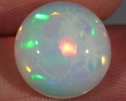 8.92CT~BRILLIANT 5/5 WELO OPAL~HONEYCOMB PATTERN~ROUND CAB