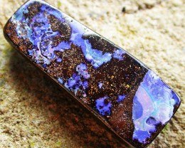 21.33 CTS BOULDER  OPAL -GLOSSY FINISH  [MS4680]