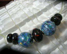 Mix bead strand Mozaic , Buttons and Roundel LMJ/ 39