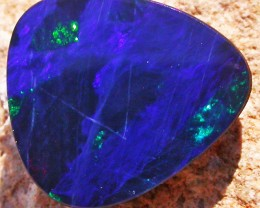 1.96 CTS  BLUE DOUBLET WITH NEON GREEN FLASH [MS4968]