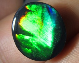FEATHER PATTERN JET BLACK N1 BLACK  OPAL 3.60  CTS JO 1294