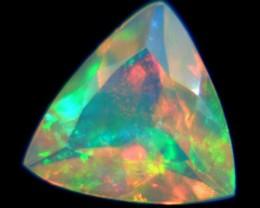 0.66Ct Natural Ethiopian Welo Faceted Opal ~ TRILLION CUT