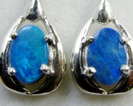 SWING   DOUBLET  OPAL EARRINGS STERLING SILVER  CK1798