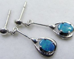 SWING   DOUBLET  OPAL EARRINGS STERLING SILVER  CK1803