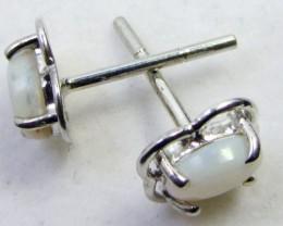 SOLID CRYSTAL   OPAL EARRINGS STERLING SILVER  CK1812