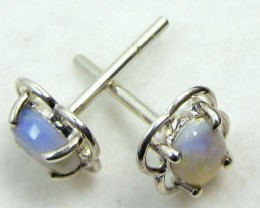 SOLID CRYSTAL   OPAL EARRINGS STERLING SILVER  CK1815