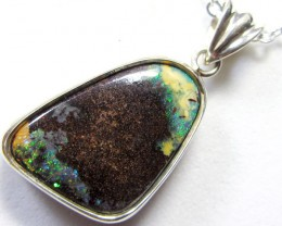 23CTS SOLID FIRE  BOULDER OPAL PENDANT CF 93