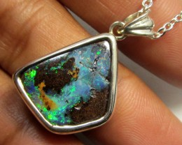 27 CTS SOLID FIRE  BOULDER OPAL PENDANT CF 103