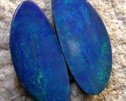 3.35 cts Stunning Australian Opal Doublet Pair (R1793)