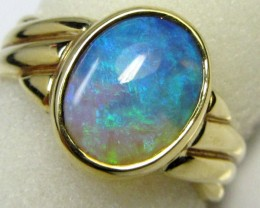 29 CTS  FIRE  OPAL18 K GOLD RING SIZE7.5   CF 160