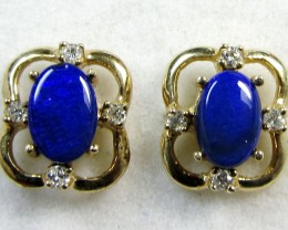 DOUBLET WITH DIAMONDS 14 K GOLD  EARRINGS CF 204