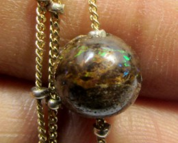 8MM BOULDER ON 3 GRAM ITALIAN 18 K GOLD CHAIN  CF205