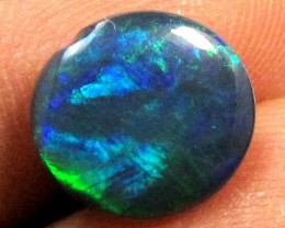 1.05 CTS BRIGHT GREEN FLASH BLACK  OPAL    PL70