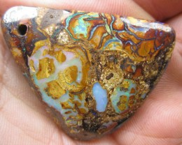 >56.30.cts DRILLED BOULDER MATRIX OPAL