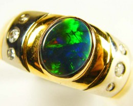 BLACK OPAL 18K  GOLD STYLED WITH DIAMONDS  sco 746 a