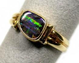 BOULDER OPAL 18K GOLD RING SIZE 8 SCO833