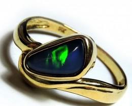 BLACK OPAL 18K GOLD RING SIZE 6.5 SCO1207