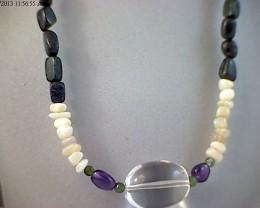 42 cm Australian Designer Opal Bead Necklace (O36)
