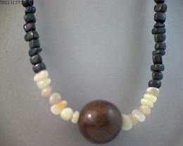 42 cm Australian Designer Opal Bead Necklace (O37)