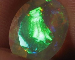 2.45ct Beautiful Faceted Ethiopian Opal With Extreme Fire!!