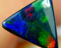 1.16Ct Rainbow RIBBON Pattern Black Smoked Opal N3