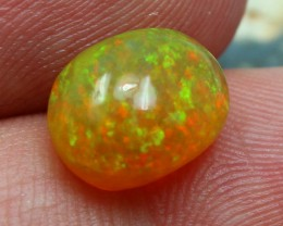100 % NATURAL WELO OPAL GREAT DISPLAY OF FIRE IN THIS STONE