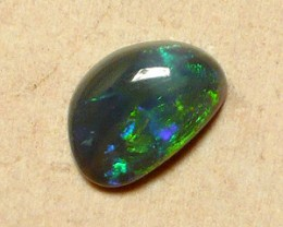 0.9ct Beautiful Lightning Ridge black opal perfect polish