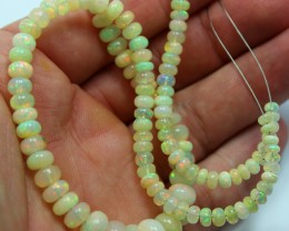 WELO OPAL BEADS STRAND 16 INCHES 80 CARATS 118 BEADS IN TOTAL