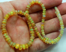 100 % NATURAL WELO OPAL BEADS  , 136 BEADS IN TOTAL STRAND