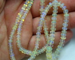 18 INCHES LENGHT WELO OPAL BEADS 5-3 MM SIZE BEADS  50 CARATS WEIGHT
