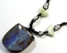 60 CTS BOULDER AND GEMSTONE NECKLACE    PL 303