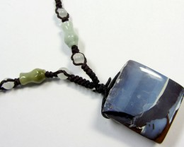 68 CTS BOULDER AND GEMSTONE NECKLACE    PL 311