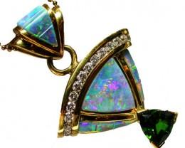 Gold Inlay Opal Pendants