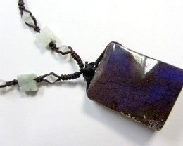 95 CTS BOULDER  ON GEMSTONE NECKLACE    PL345