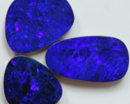 13.95 CTS 3PCS DOUBLET OPAL PARCEL ELECTRIC BLUE COLORS C507