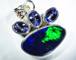 40 CTS DOUBLET PENDANT TANZANITES - FACTORY DIRECT SOJ2666