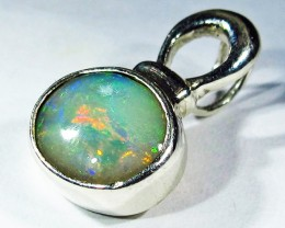 5.89 CTS SOLID OPAL PENDANT SILVER-FACTORY DIRECT  [SOJ2719]