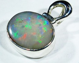 7.68 CTS SOLID OPAL PENDANT SILVER-FACTORY DIRECT  [SOJ2729]