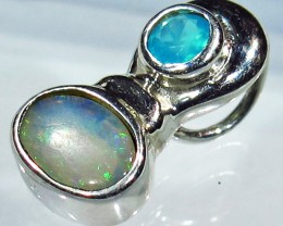 4.94 CTS SOLID OPAL PENDANT SILVER + CHALCEDONY  [SOJ2732]